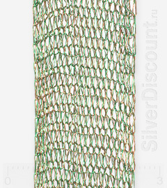 Фактура зеленой ленты длиной 50 см