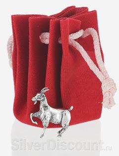 Подарочный мешочек к серебряной статуэтке Коза