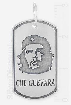 Серебряный кулон с изображением Че Гевары