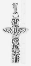 Обратная сторона двуликой (двусторонней) подвески - идола