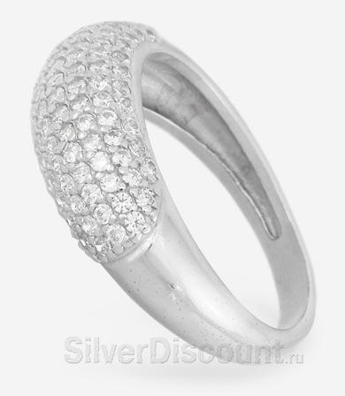 Серебряное кольцо с радированием купить