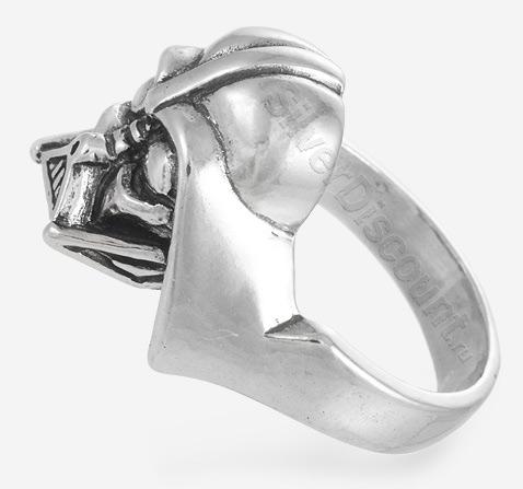 Кольцо Darth Vader (Дарт Вейдер), серебро 925 пробы, вид сбоку