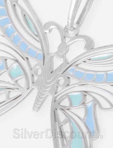 Подвес в виде изящной бабочки, серебро