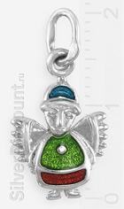 Миниатюрный ангел в этническом стиле, серебро, эмаль