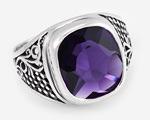 Классический мужской перстень с камнем