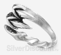 Хищное кольцо с когтями, вид сбоку