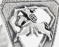 Герб со всадником с боковой поверхности кольца