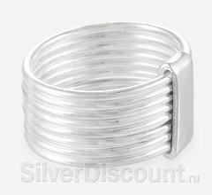 Серебряное кольцо неделька, кольцо из восьми колец