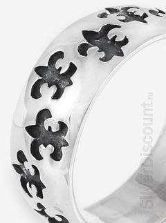 Орнамент кольца в виде геральдических лилий