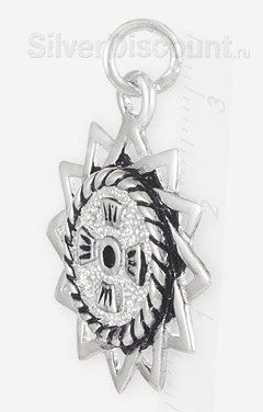 12-ти конечная звезда, эрцгамма (эрцграмма) из серебра