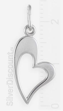 Миниатюрный кулончик в виде сердца из серебра
