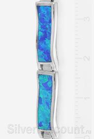 Фрагмент фото браслета с синими опалами шириной 5 мм