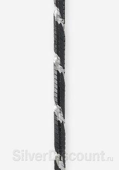 Черно-белый браслет снейк, 8 граней, фото плетения крупным планом