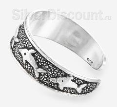 Небольшое кольцо для пальцев ног с дельфинами
