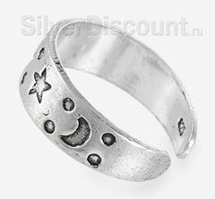 Безразмерное кольцо с Солнцем, месяцем и звездами