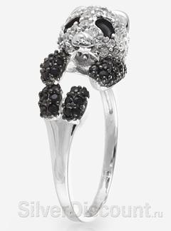 Кольцо в виде милого медведя, черно-белой панды