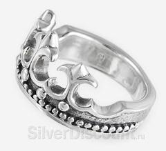 Кольцо с короной и геральдическими лилиями