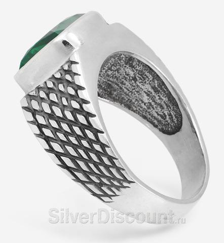 изделия из серебра, перстень с празиолитом, вид сбоку