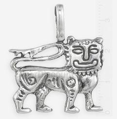 Славянская подвеска кулон улыбающийся лев, фото обратной стороны