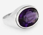 Кольцо - перстень с овальным камнем