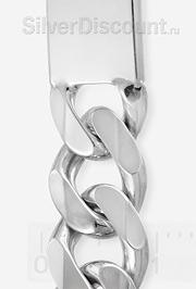 Серебряный браслет панцирь + пластина под гравировку (фрагмент фото)