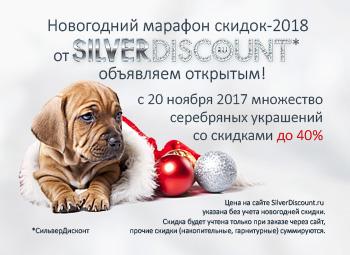 Новогодняя раcпродажа 2018 на SilverDiscount.ru