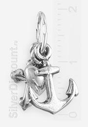 кулон из серебра с тремя подвесками: вера, надежда, любовь