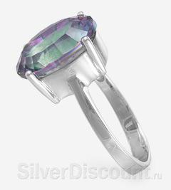 Перстень с овальным кварцем-мистиком