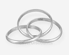 Кольцо из трех колец с стиле картье, серебро 925