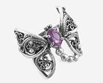 Кольца - бабочки с филигранью