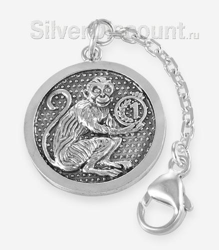 Брелок из серебра с обезьянкой