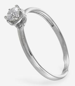 Обручальное (венчальное) кольцо с прозрачным камнем