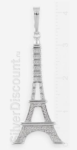 Кулон Эйфелева башня из серебра