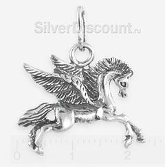 Серебряный крылатый конь Пегас, кулон-подвеска