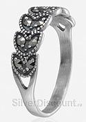 кольцо - серебряный колос с камнями