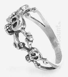 Кольцо в стиле пиратов карибского моря, серебро