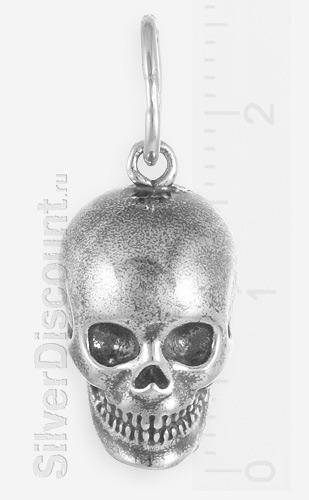 Кулон в виде черепа, серебро