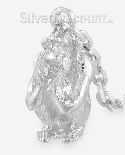 Фигурка обезьяны из ионизатора крупным планом (высота 1,8 см)