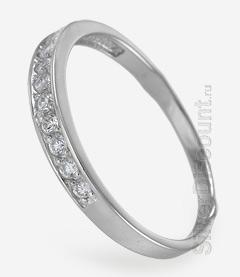 Класическое небольшое кольцо с дорожкой камней