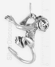 Серебряная обезьянка Чита, подвеска, Ag 925