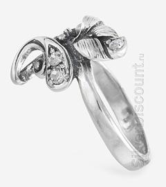 Кольцо с растительным дизайном, вид сбоку