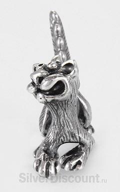 Котик - дракончик из серебра, статуэтка-сувенир