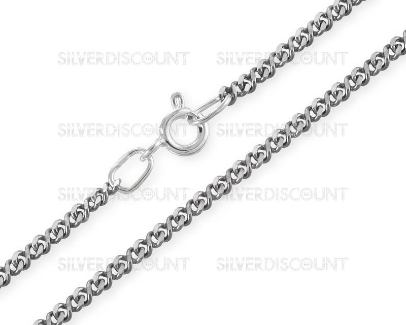 серебряная цепочка со знаком бесконечности