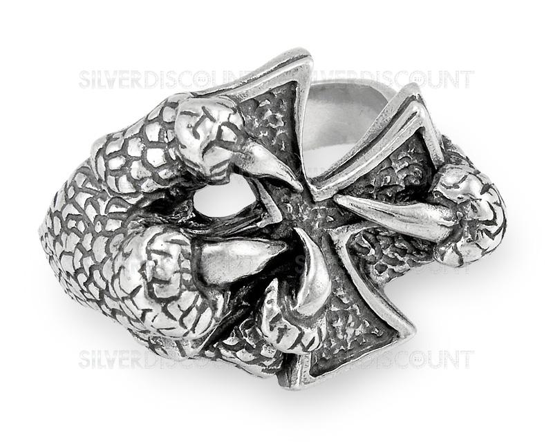 широкое серебряное кольцо мужское