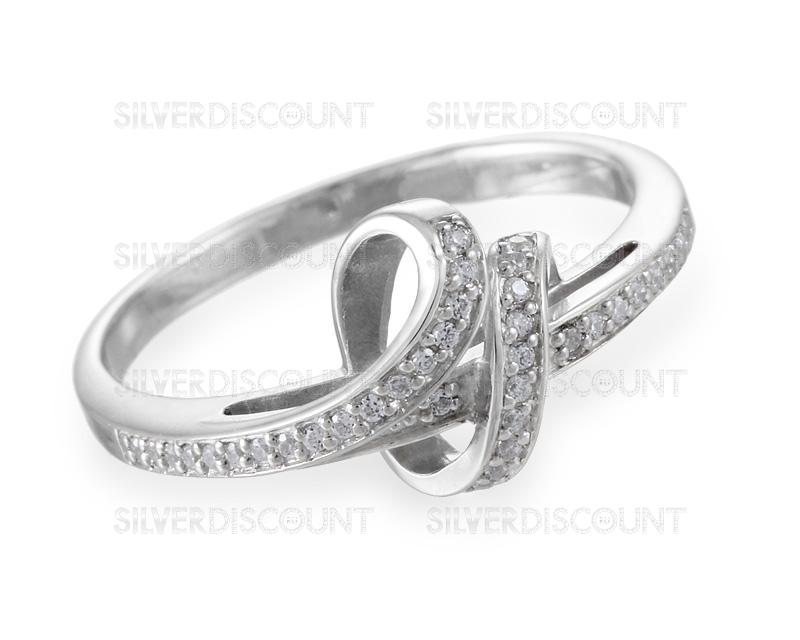 женское серебряное кольцо