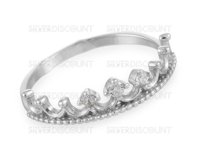 необычное кольцо из серебра